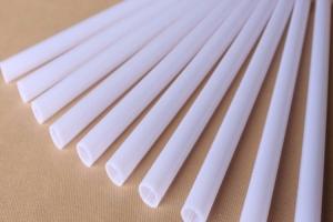 PC厂家直销选用进口原材料挤出高透光率LED灯T8 T10光扩散乳白PC管